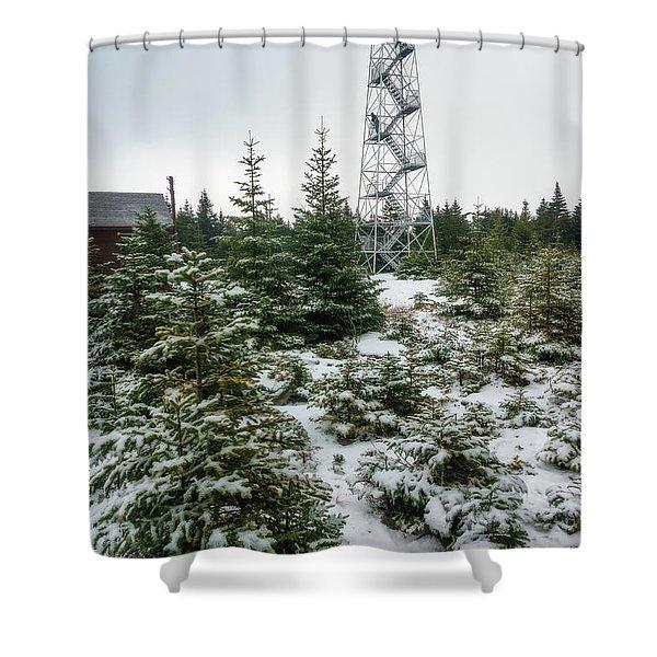 Hunter Mountain Fire Tower Shower Curtain