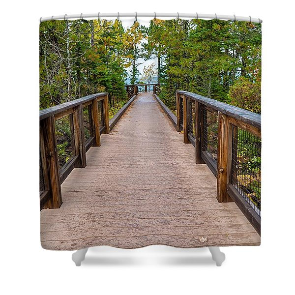 Hunter's Point At Copper Harbor Shower Curtain