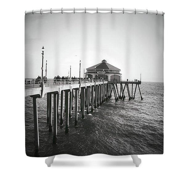Huntington Beach, Ca Shower Curtain