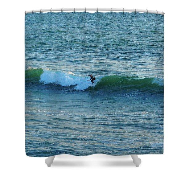 Huntington Beach Surfing Shower Curtain