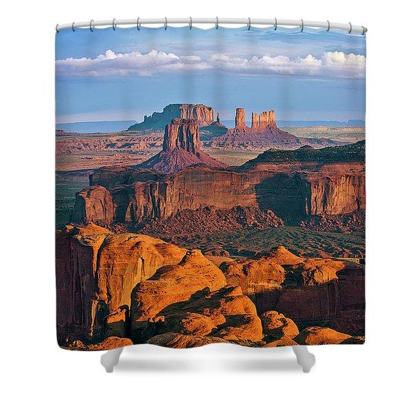 Hunts Mesa Sunrise Shower Curtain