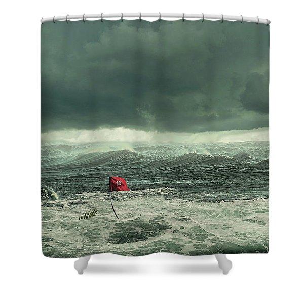 Hurricane Florence 2018 Shower Curtain