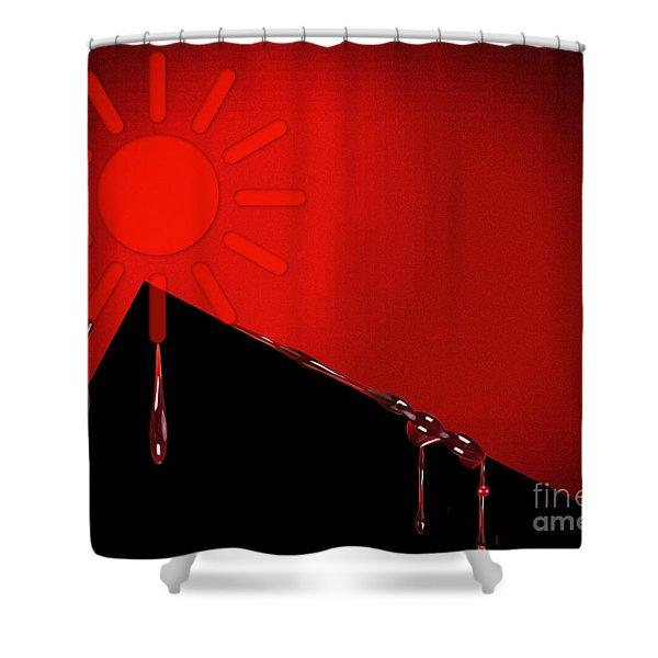 Hurt Shower Curtain