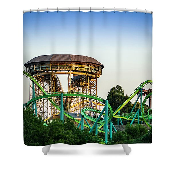 Inversions Shower Curtain