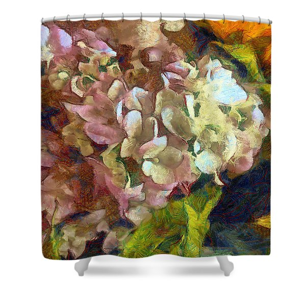 Hydrangea Love Shower Curtain