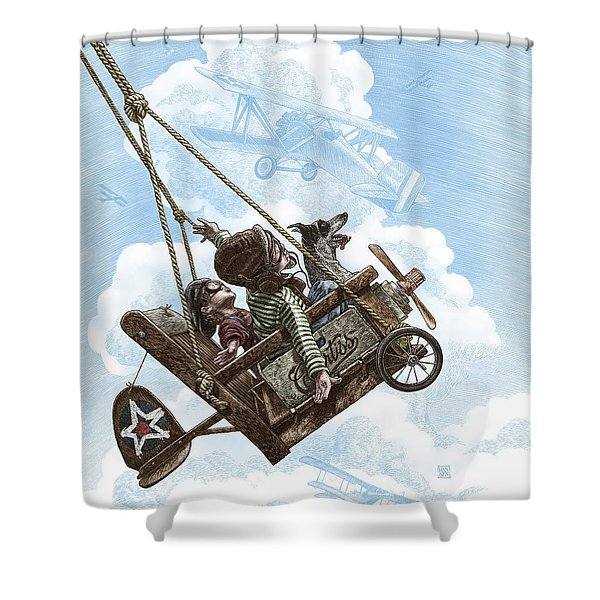 I Want To Fly Shower Curtain