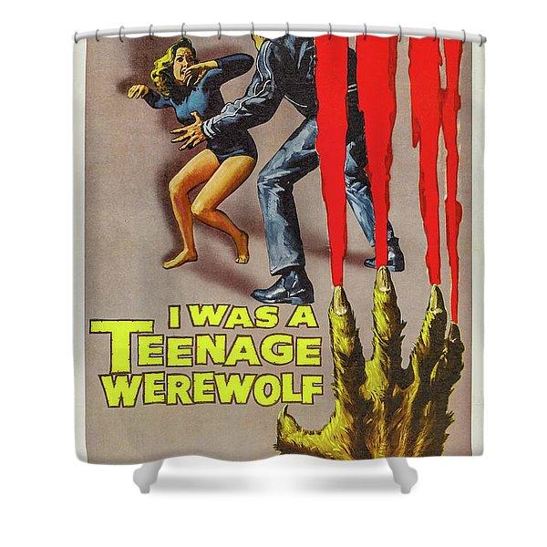 I Was A Teenage Werewolf Movie Poster Shower Curtain