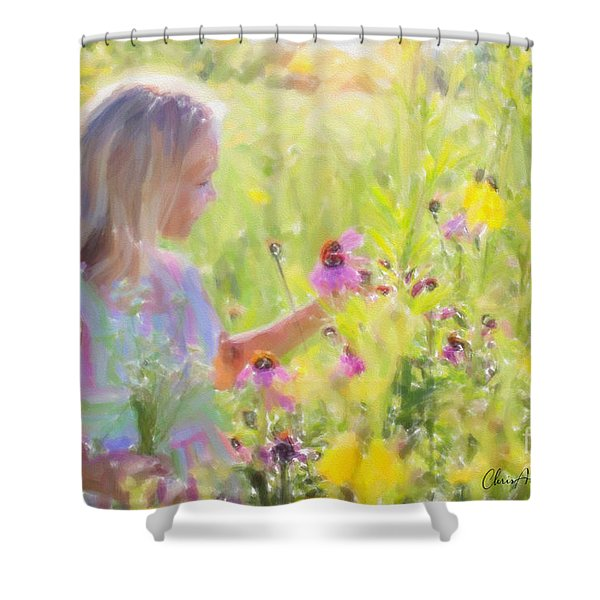 I Would Pick More Daisies ... Shower Curtain