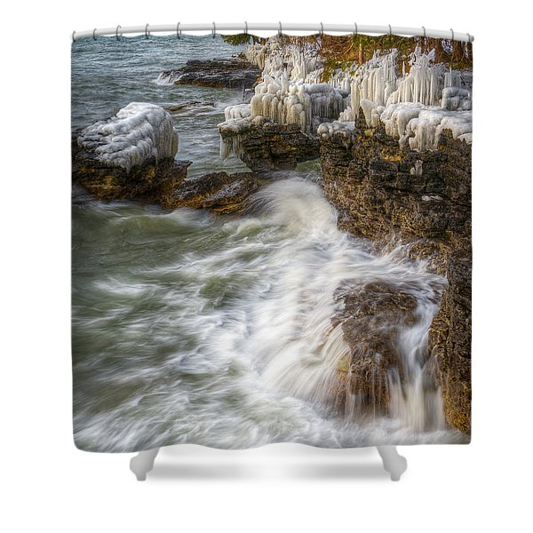 Ice And Waves Shower Curtain