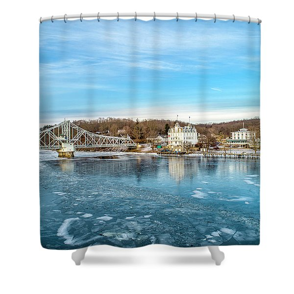 Ice Blue   Shower Curtain