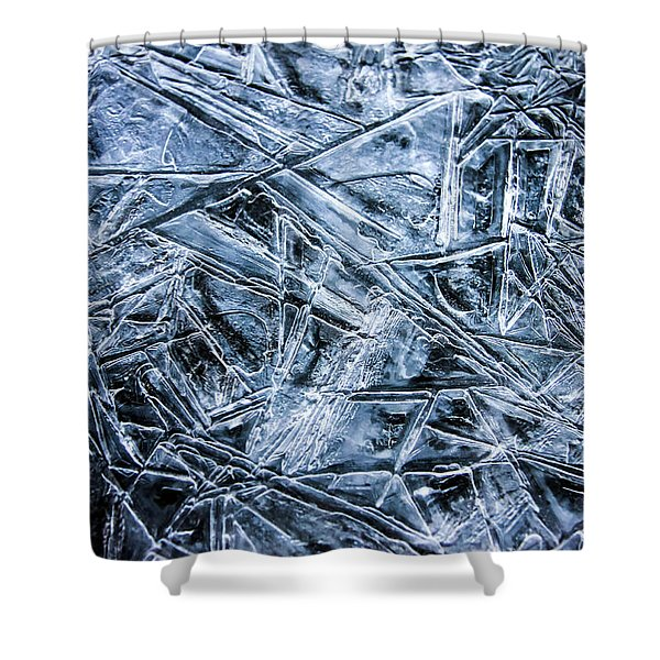 Shower Curtain featuring the photograph Ice Crystals by Dawn Richards