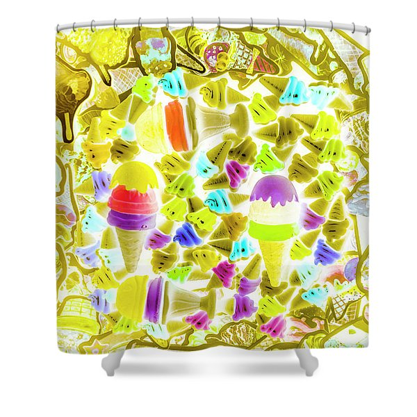 Ice-dream Shower Curtain