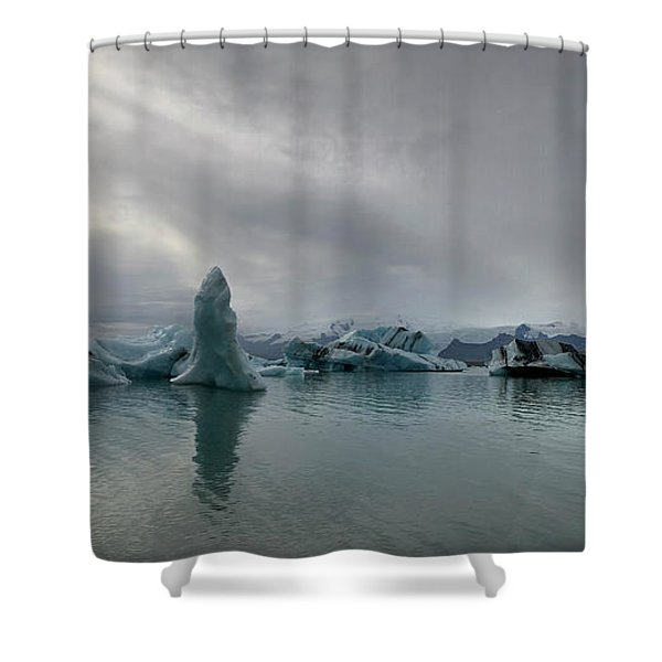 Ice Lagoon Shower Curtain