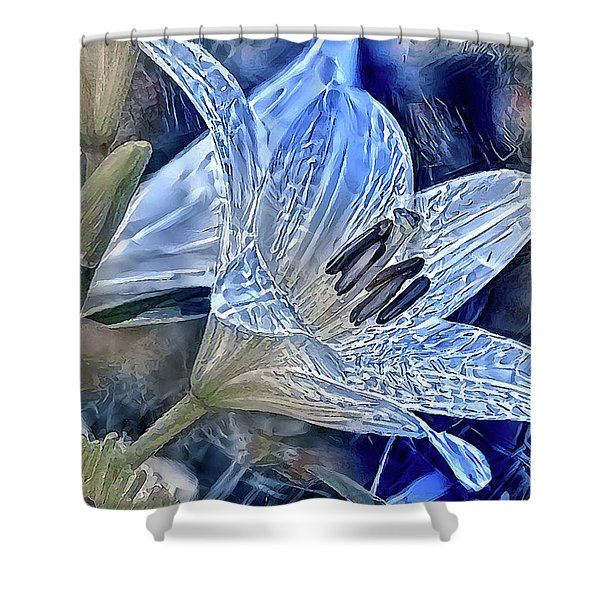 Ice Lily Shower Curtain