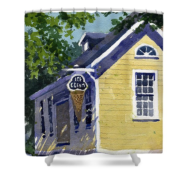 Ice Parlor At Paoli Shower Curtain