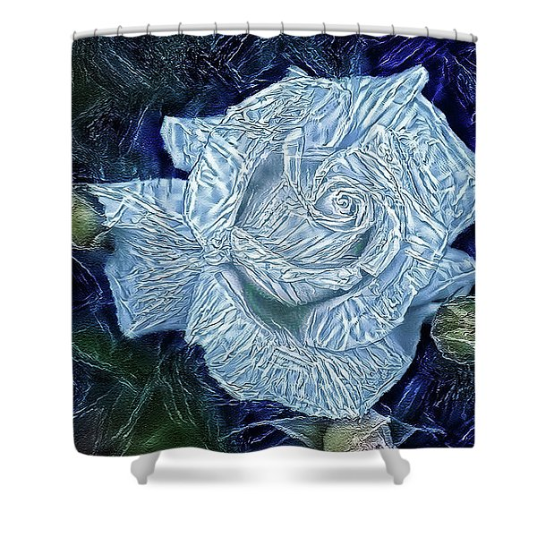 Ice Rose Shower Curtain