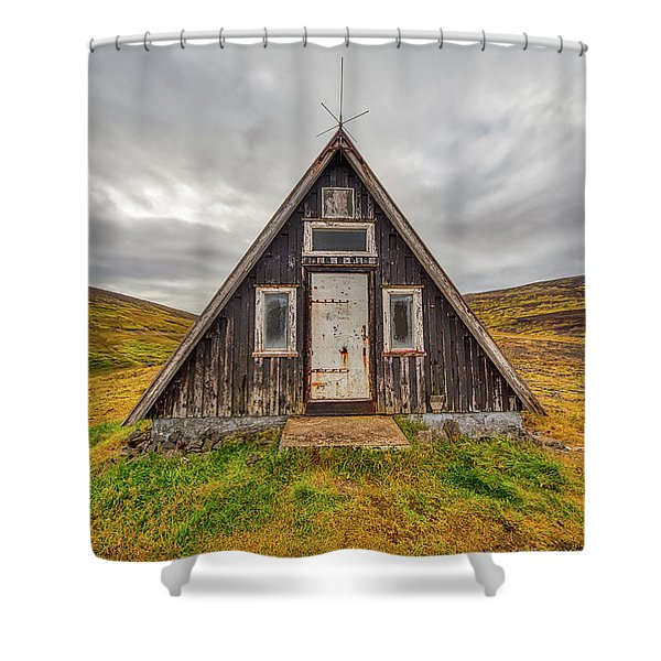 Iceland Chalet Shower Curtain