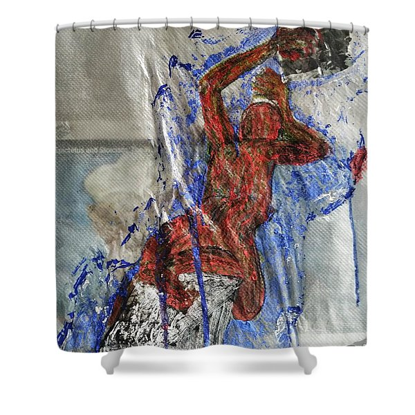 If We Kissed Shower Curtain