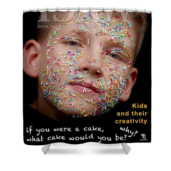 Shower Curtain featuring the digital art If You Were A Cake by ISAW Company