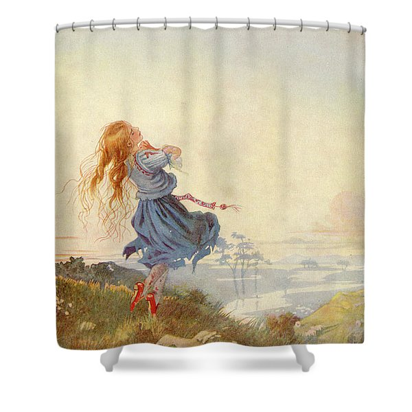 Illustration For The Red Shoes Shower Curtain