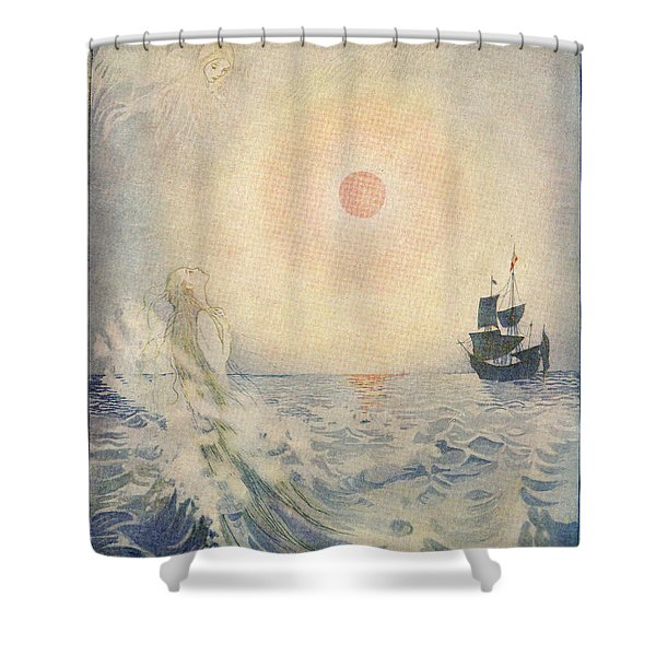 The Little Mermaid, Illustration From  Shower Curtain