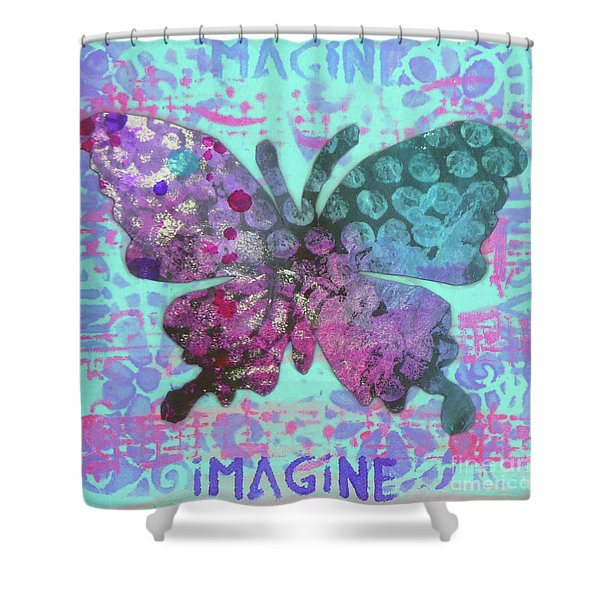 Imagine Butterfly 2 Shower Curtain