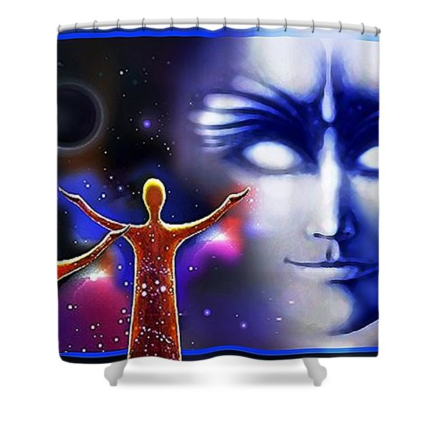 Imagine - What Is Out  There Shower Curtain
