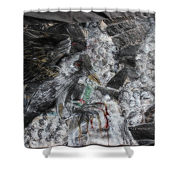 Immersed And Flawed By Cash Flow Shower Curtain