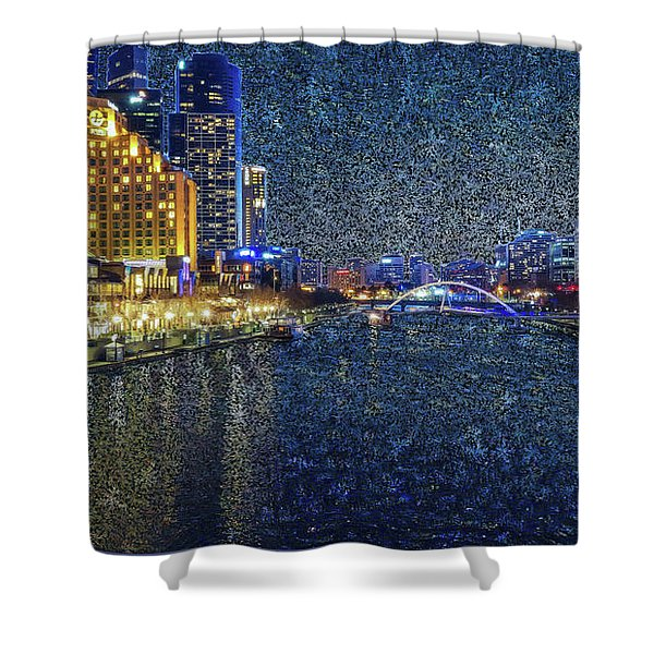 Impression Of Melbourne Shower Curtain