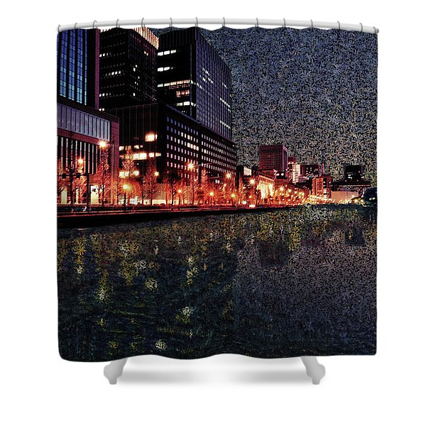 Impression Of Tokyo Shower Curtain