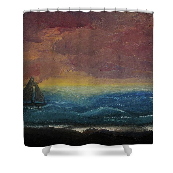 Impressions Of The Sea Shower Curtain