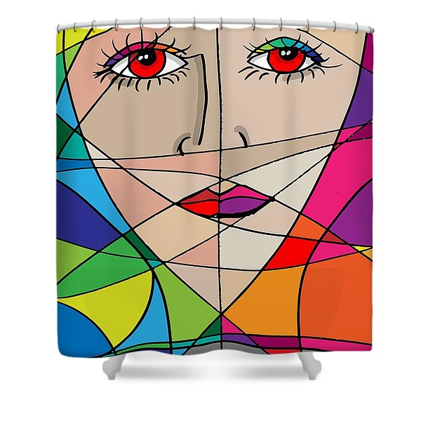 Shower Curtain featuring the digital art In Deep Thought by Stanley Mathis