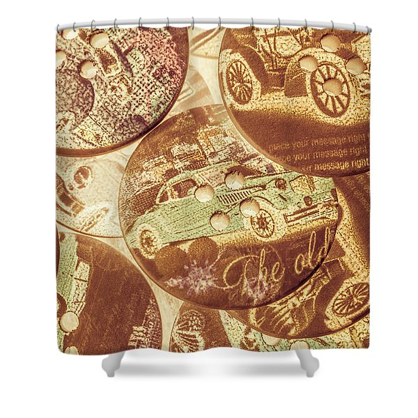 In Fashion Of Classic Cars Shower Curtain