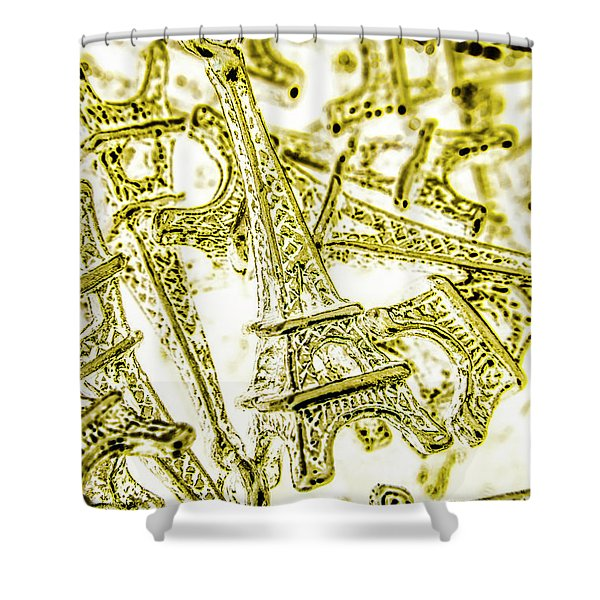 In French Forms Shower Curtain