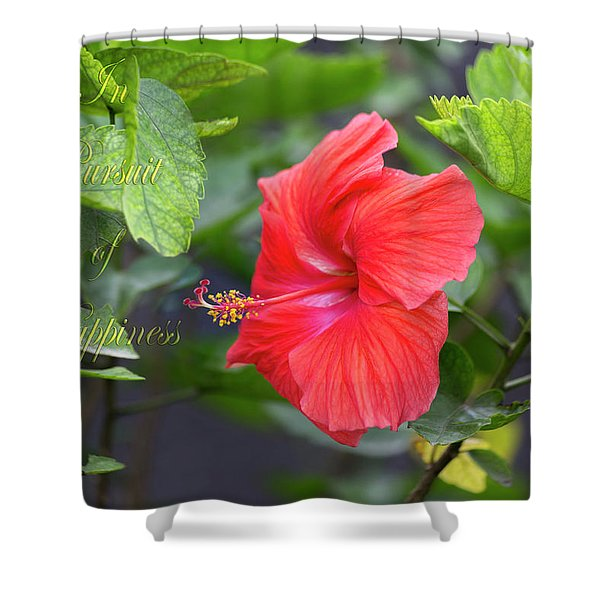 In Pursuit Of Happiness Shower Curtain