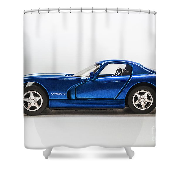In Race Blue Shower Curtain