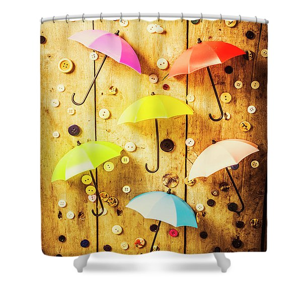 In Rainy Fashion Shower Curtain