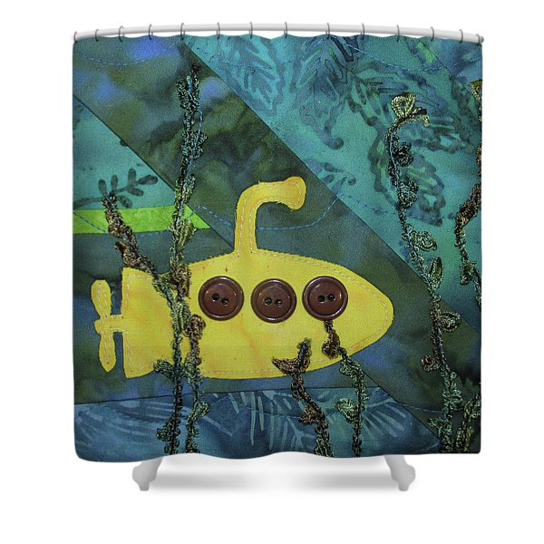 In Search Of The Yellow Submarine Shower Curtain