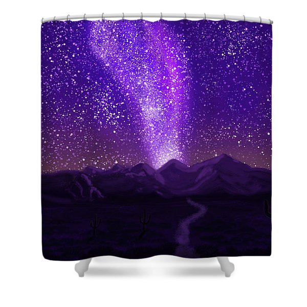 In The Arizona Night Shower Curtain