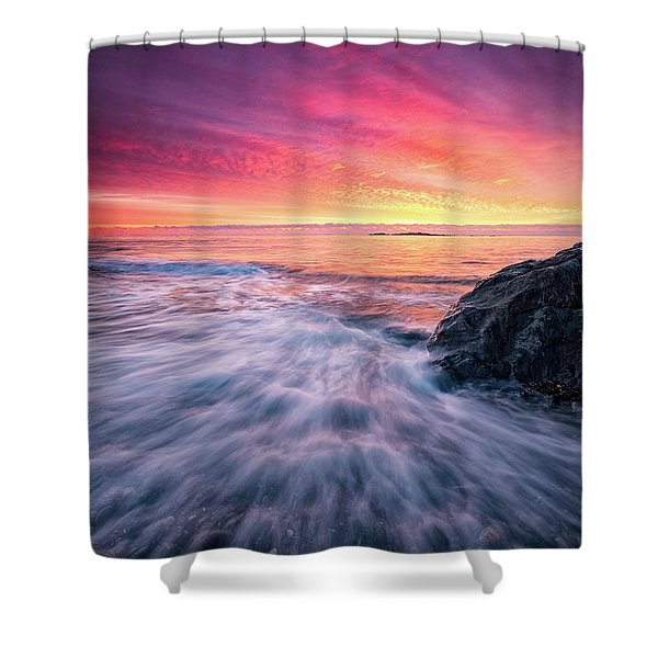Shower Curtain featuring the photograph In The Beginning There Was Light by Jeff Sinon