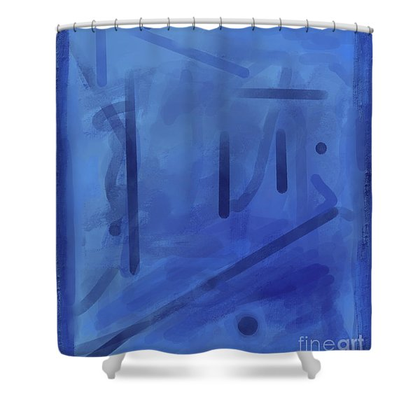 In The Blue Mist Shower Curtain