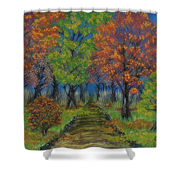 In The Fall Shower Curtain