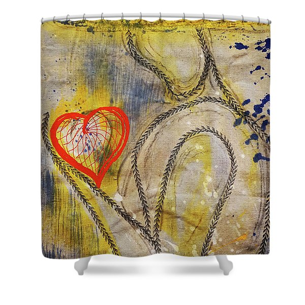 In The Golden Age Of Love And Lies Shower Curtain