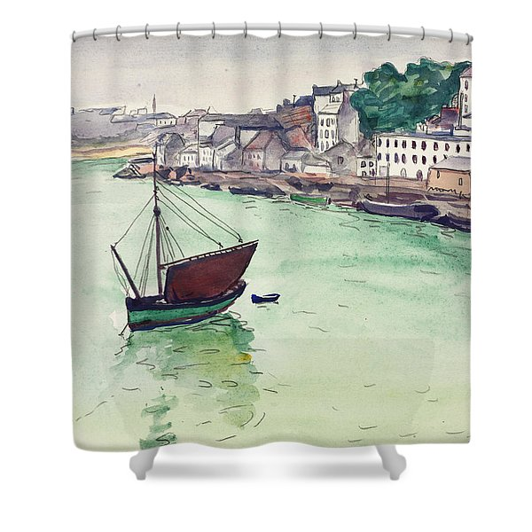 In The Harbor, 1928 Shower Curtain