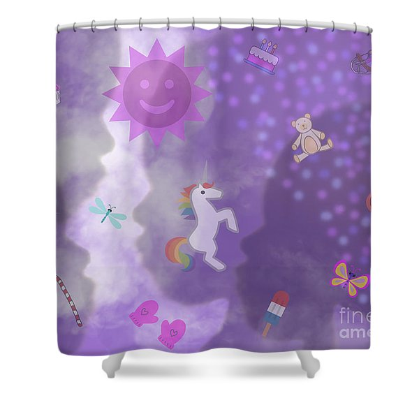 In The Mind Of A Child Shower Curtain