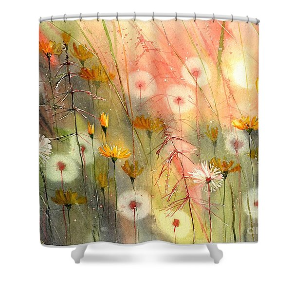 In The Morning Haze Shower Curtain