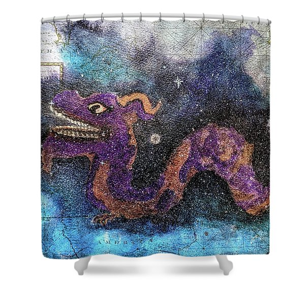 In The Night Sky  Shower Curtain