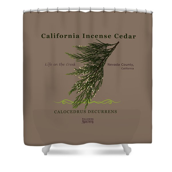 Incense Cedar - Brpwn Text Shower Curtain