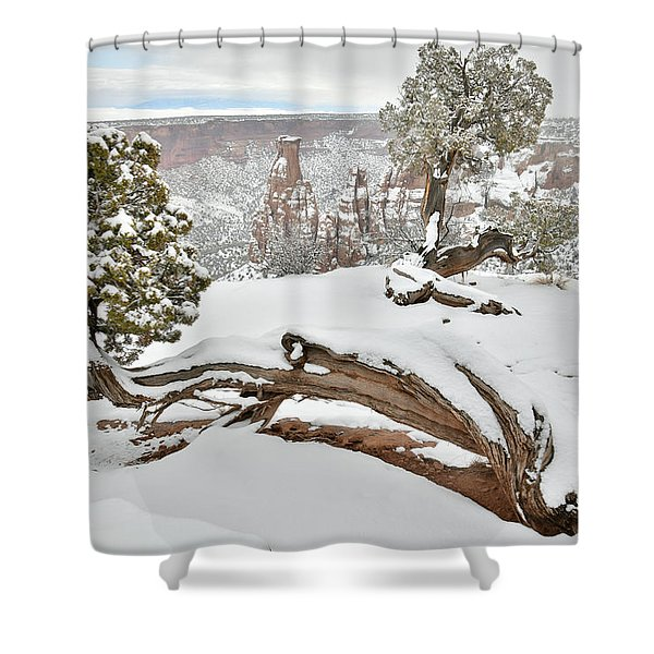 Independence Canyon Of Colorado National Monument Shower Curtain