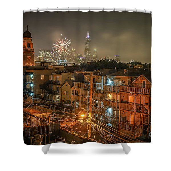 Independence Day In Chicago Shower Curtain